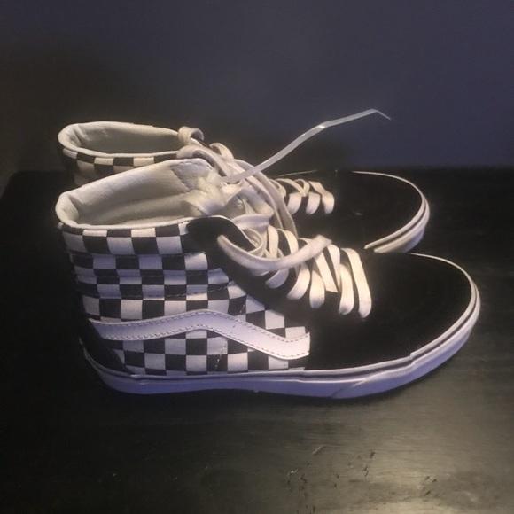 Vans Shoes - Vans hi Top Checkered Sneakers 0471bb866